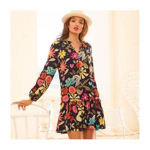 Trina Turk Corozone La Habana Jardine Crepe Dress